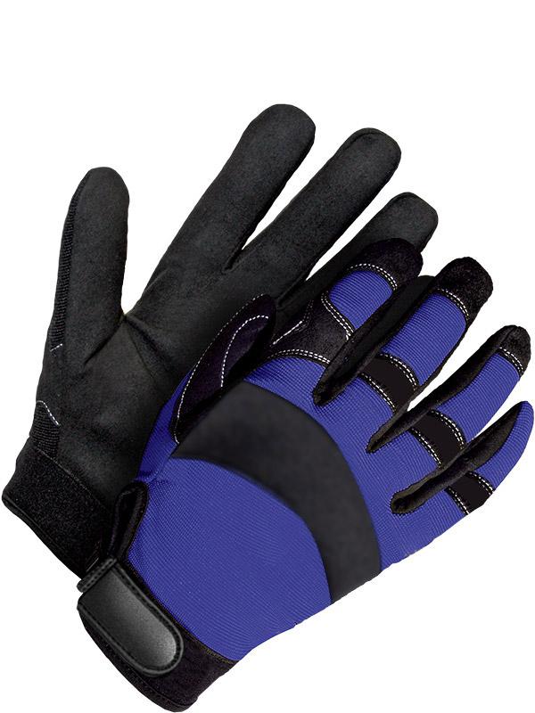 Synthetic Leather Mechanics Glove w/Velcro Closure