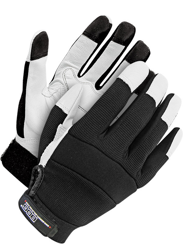Grain Goatskin Mechanics Glove w/Padded Palm