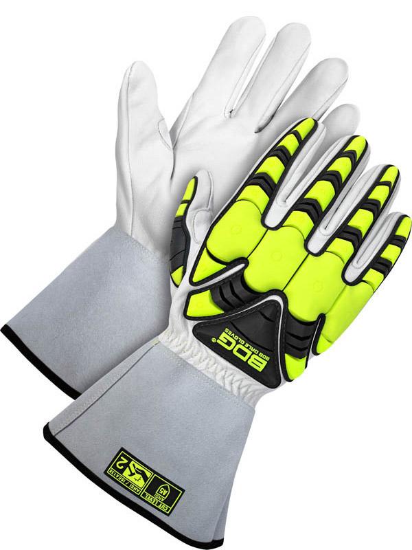 """Grain Goatskin Glove w/5"""" Cuff (Impact/Cut)"""