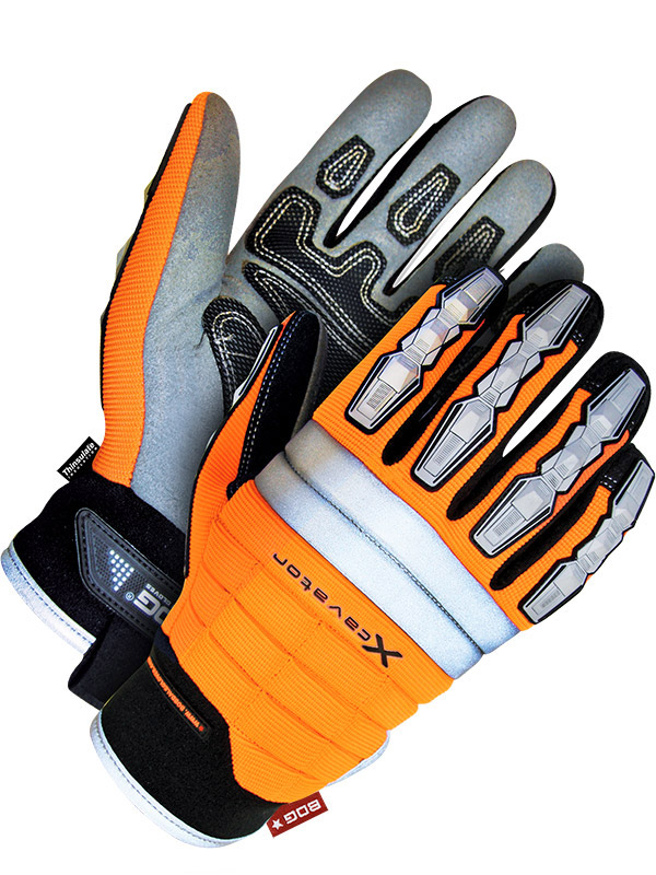 Lined Synthetic Leather Performance Glove w/Reinforced Palm (Hi-Viz)