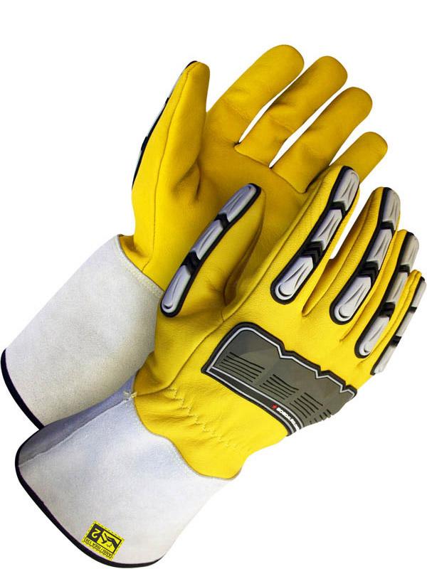 "Lined Grain Goatskin Glove w/5"" Cuff (Impact)"
