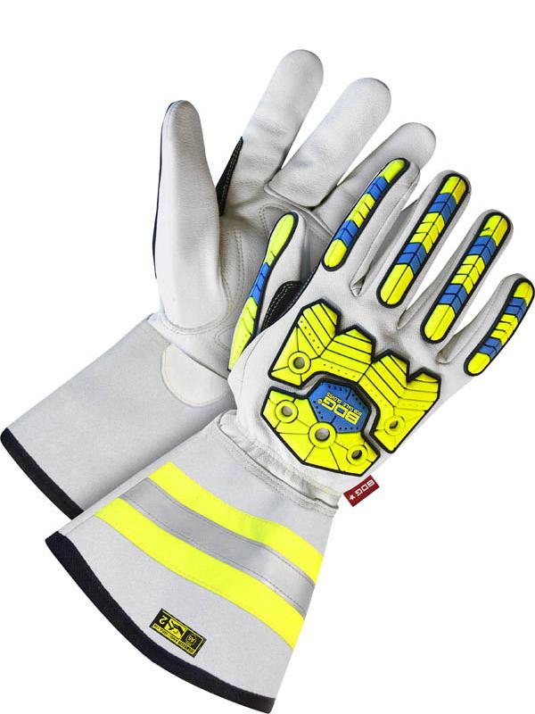 """Lined Grain Goatskin Glove w/5"""" Cuff (Impact/Cut)"""