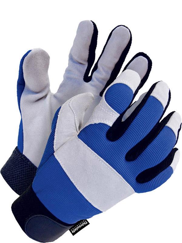 Lined Split Cowhide Mechanics Glove