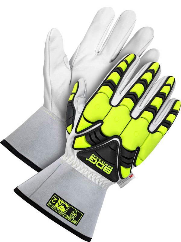 """Lined Grain Goatskin Glove w/3"""" Cuff (Impact/Cut)"""
