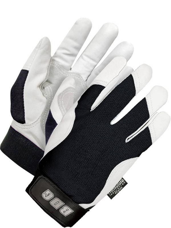 Lined Grain Goatskin Mechanics Glove w/Patch Palm