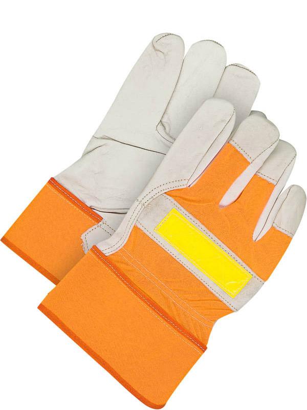 Grain Cowhide Fitter w/Safety Cuff (Hi-Viz)