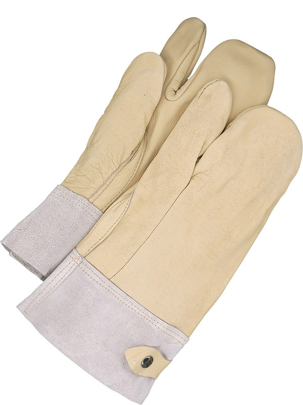 Grain Cowhide 1-Finger Mitt w/Snap Cuff
