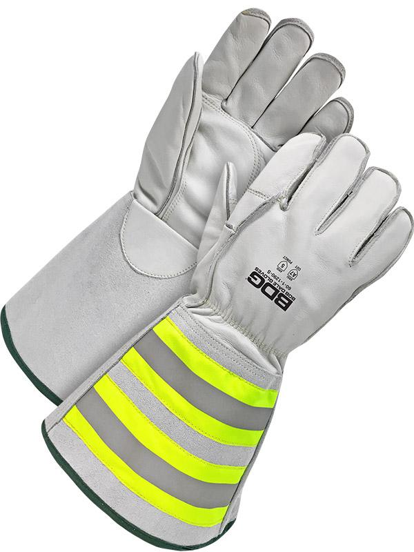 "Grain Cowhide Utility Glove w/6.25"" Cuff & Cut-Resistant Lining"