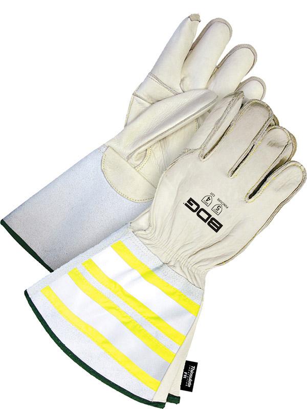 "Lined Grain Cowhide Utility Glove w/6.25"" Cuff"