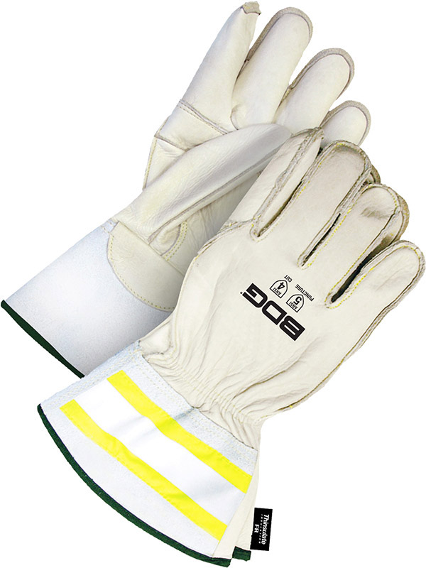 "Lined Grain Cowhide Utility Glove w/3"" Cuff"