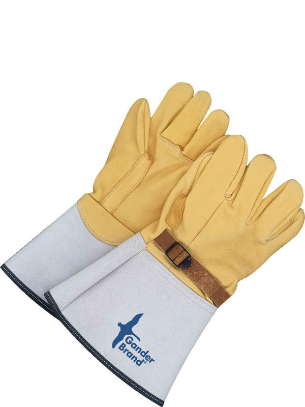 Couvre-gant haute tension en cuir fleur de chevreuil