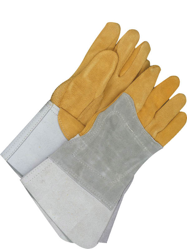 Gant de soudage TIG en cuir fleur de chevreuil avec manchette de 5,5 po et renfort thermique