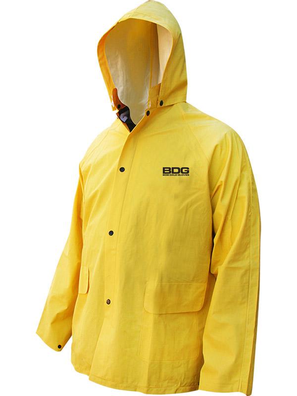 PVC/Polyester Rain Jacket w/Hood