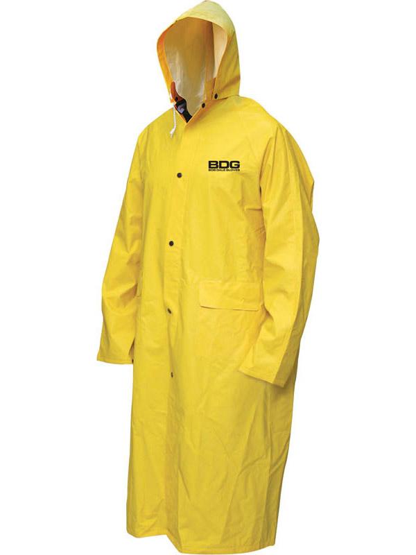 Manteau imperméable ignifuge en PVC/polyester avec capuchon