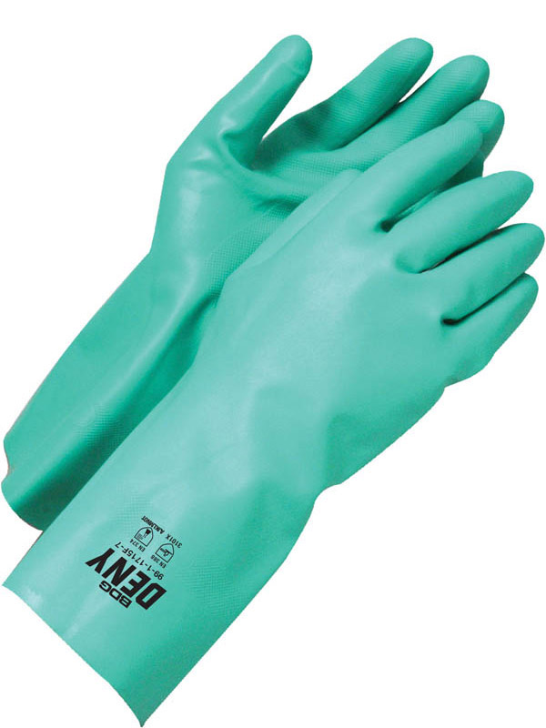 "13"" Nitrile Glove w/Flock Lining"