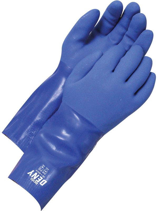 "14"" PVC Glove w/Cotton Lining"