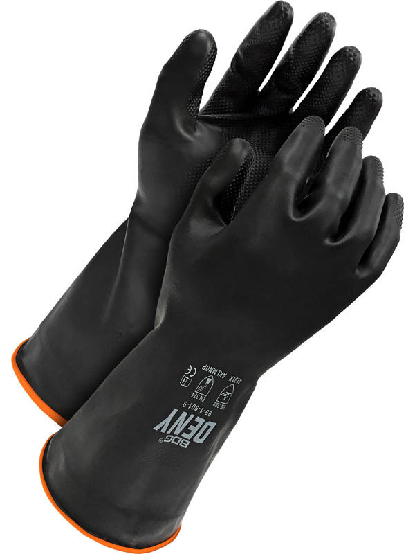 "12"" Rubber Glove w/Flock Lining"