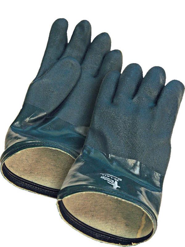 "14"" PVC Glove w/Fleece Lining"