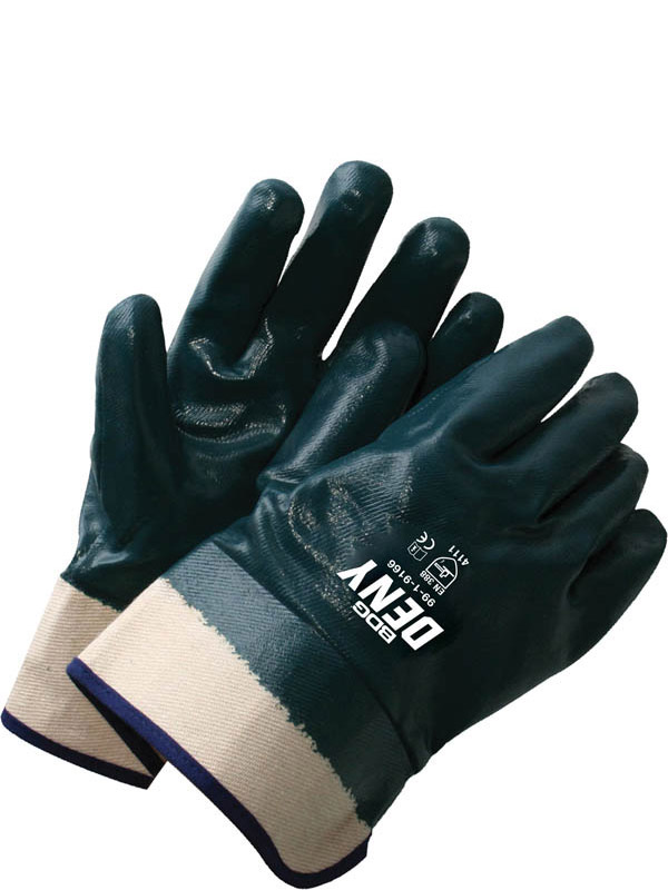Full Nitrile Coated Cotton w/Safety Cuff